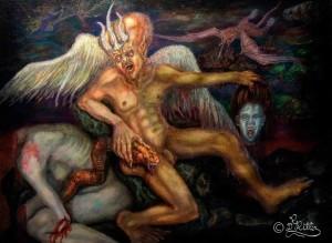 Blutlust (Freskenentwurf)