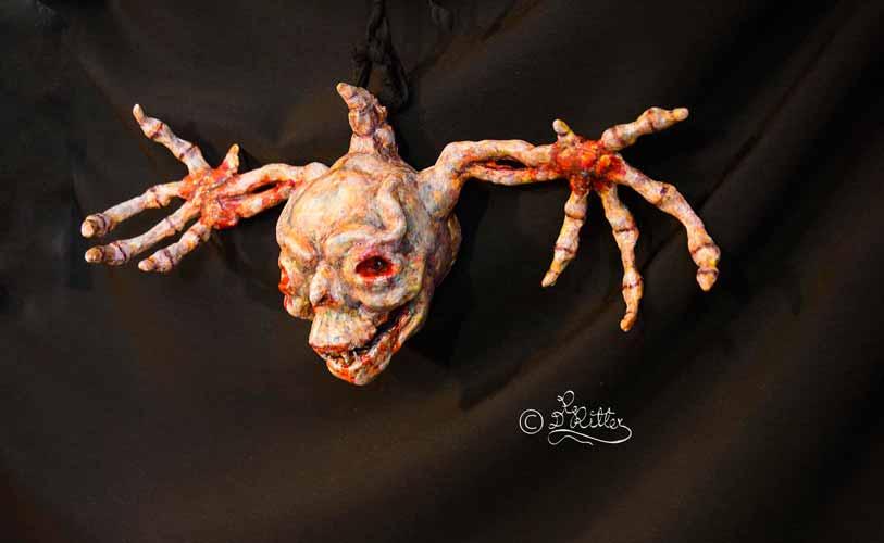 Bone Winged Egg Head (Lufttrocknende Modelliermasse_40cm lang)