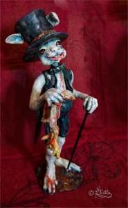Sir Bunny The Chicken Killer (Lufttrocknende Modelliermasse_46cm hoch)