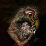 Der anarchistische Wurm unter dem Argusauge (Digital Painting)