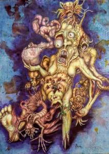 Die Symbionten (Mischtechnik)