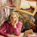 Die Welt der Ruth M. Harzölfarbe auf Holztafel