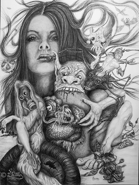 Mother Nature And Her Freak Show (42cmx56cm)