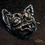 Dämonischer Hund (Polymer Clay Skulptur_5cm)