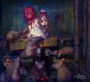 Wehe dem, der sein Gesicht verliert, denn die Ratten lauern! (Digital Art)