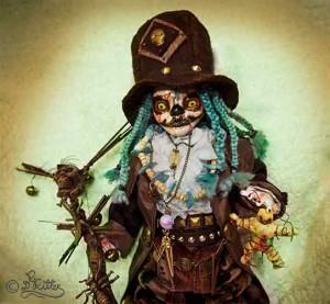 Voodoo Geist Papa Legba (Mixed Media_37cm hoch inkl.Hut)