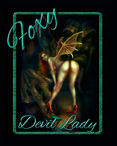 Foxy Devil Lady_Plakat