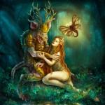 Satyr und Hexe