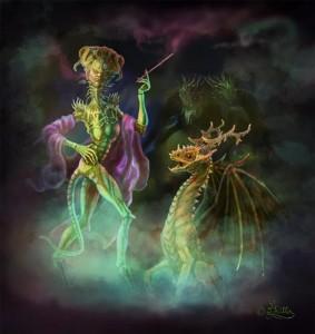Alien Lady und ihr Haustier